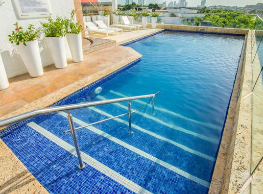 Outdoor swimming pool GHL Collection Armería Real Hotel Cartagena